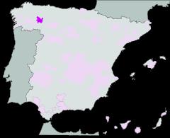 Map of Bierzo (Castilla y León)