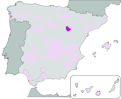 Map of Calatayud (Aragon)