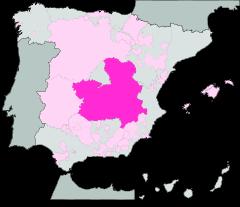 Map of Castilla-La Mancha