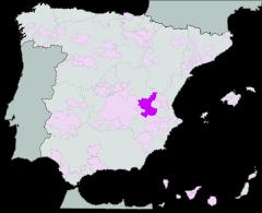 Map of Manchuela