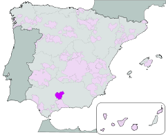 Map of Montilla Moriles (Andalusia)