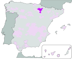 Map of Navarra