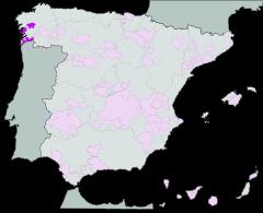 Map of Rías Baixas (Galicia)