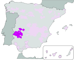 Map of Ribera del Guadiana