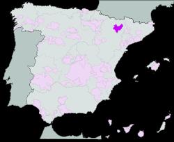 Map of Somontano