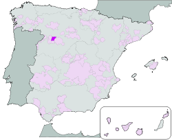 Map of Toro, Zamora, Castilla y León