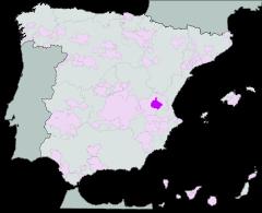 Utiel-Requena map