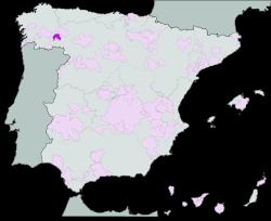 Certified Origin Valdeorras Map
