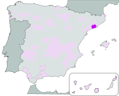Map of Penedès (Catalonia)